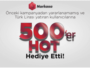 Narkasa.com ikinci bir kampanya ile kullanıcılarına 500'er HOT dağıttı!